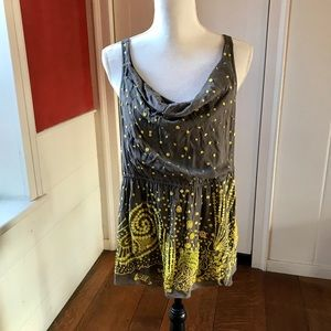 Sequined Anthropologie tank.
